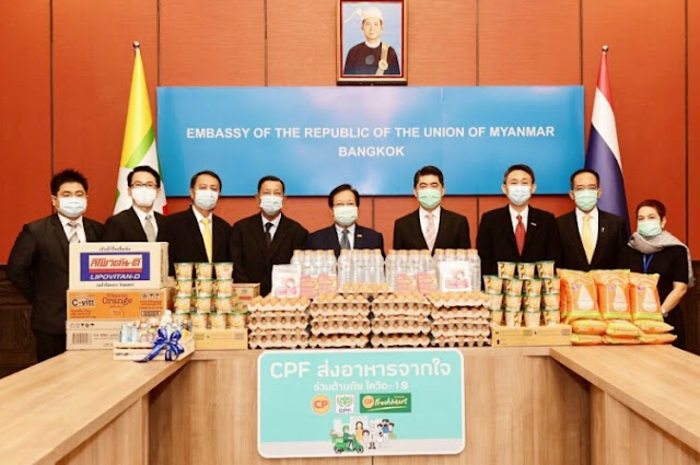 CP Foods and partners jointly supply hearty foods for Myanmar migrant workers