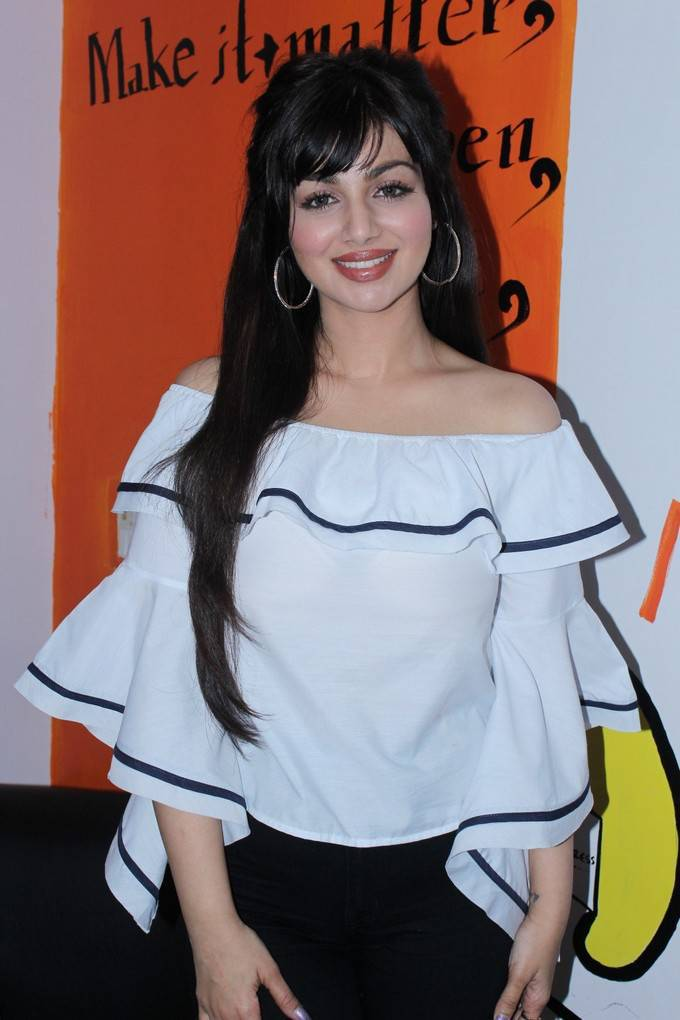 Bollywood Actress Ayesha Takia Face Close Up Stills In White Top