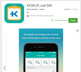 Aplikasi Jual Beli Kaskus Android