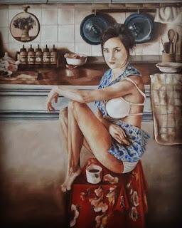 لوحات بالالوان الخشبية للرسام بسام الفخرانى