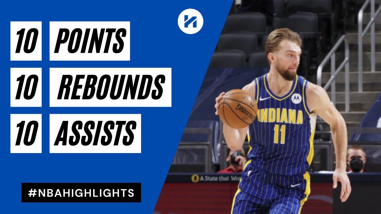 Domantas Sabonis 10pts 10reb 10ast vs DEN   March 4, 2021   2020-21 NBA Season
