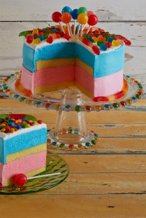 Build an ice cream birthday cake