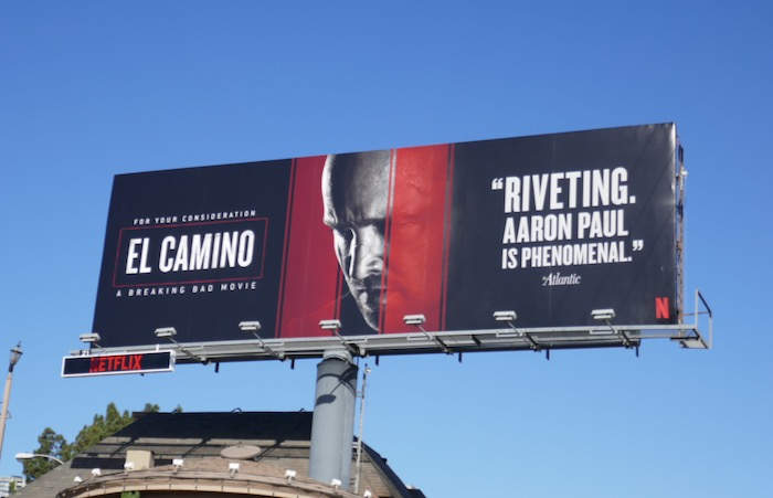 El Camino A Breaking Bad consideration billboard