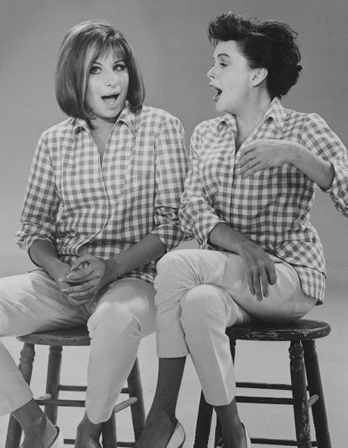 1963. Barbra Streisand and Judy Garland on The Judy Garland Show - October 6, 1963