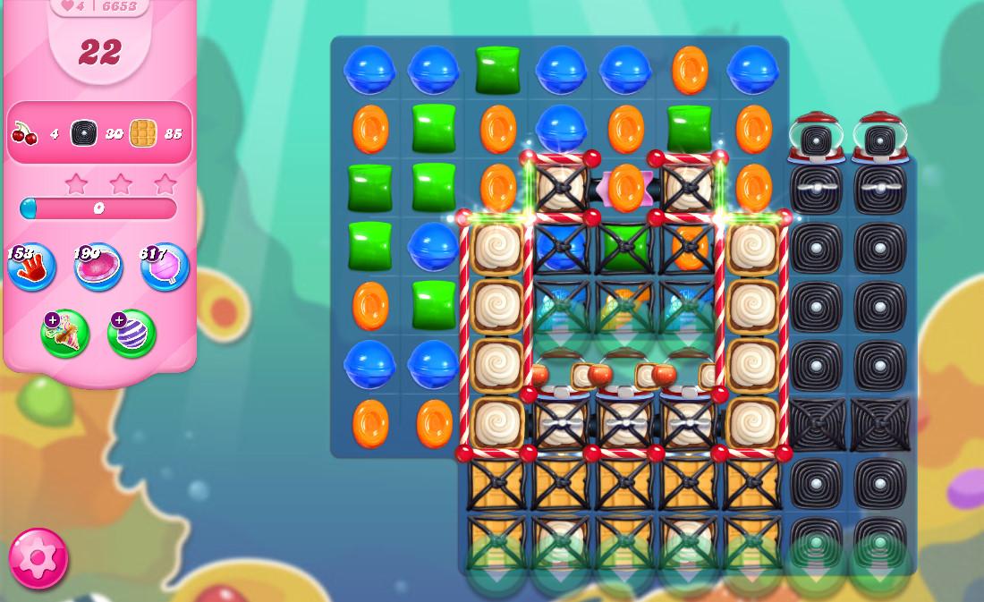 Candy Crush Saga level 6653