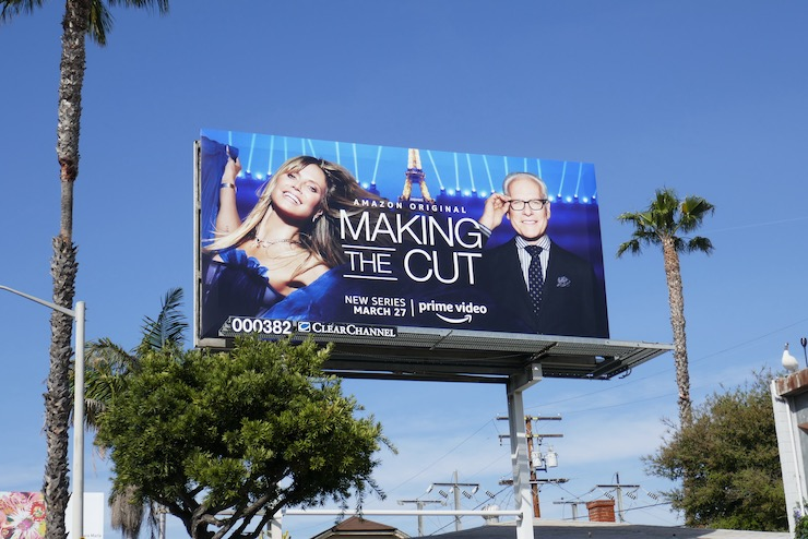 Making the Cut Amazon series billboard