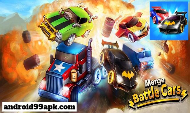 لعبة Merge Battle Car v1.0.97 دمج السيارات مهكرة بحجم 48 ميجابايت للأندرويد