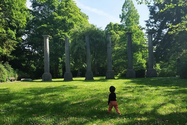 Ancient Columns Aachen Acropolis Lousberg