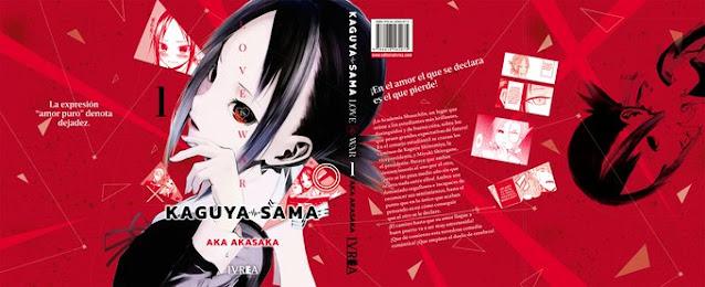 Así es la portada de Kaguya-sama: Love is War de Ivréa.