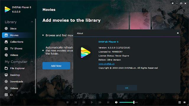 Screenshot DVDFab Player Ultra 6.0.0.9 Full Version