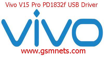 Vivo V15 Pro PD1832f USB Driver Download