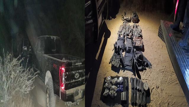 Galería: Salieron a relucir  las fotos Sicarios de El CDN abandonaron equipo táctico, corren y se esconden en el monte al toparse con Estatales en Aldama, Tamaulipas