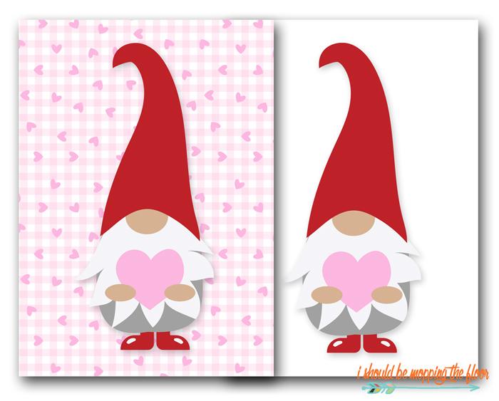 Valentine Gnome Printables