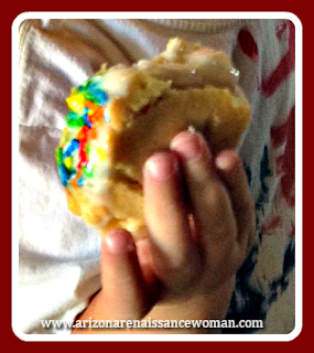 Vanilla Ice Cream Tacos with Vanilla Cookie Shells and Sprinkles