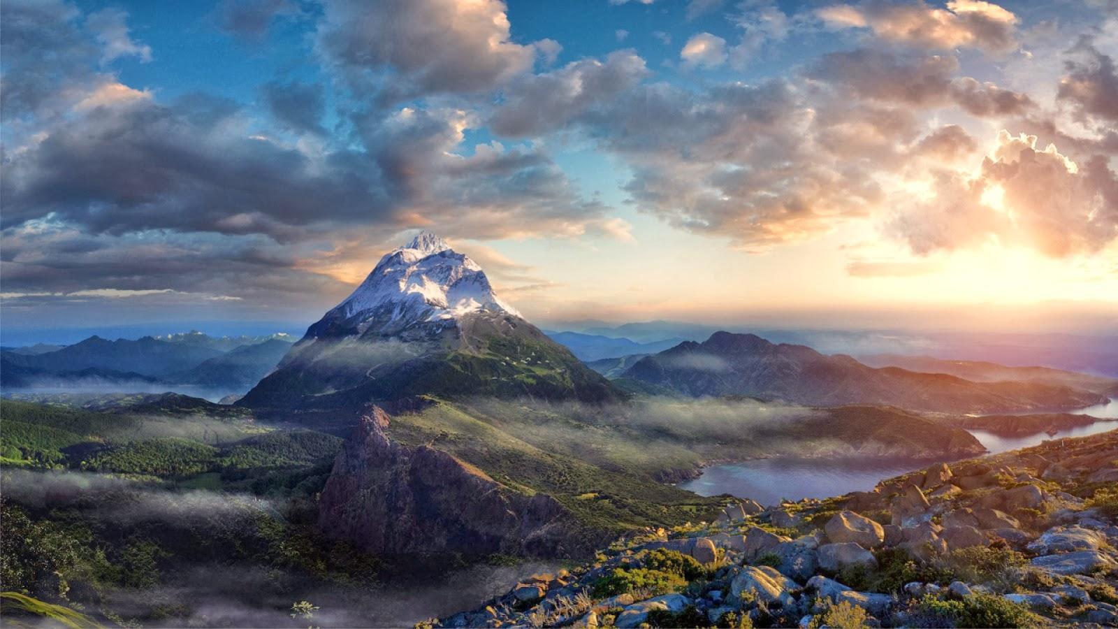 Fondo De Pantalla Paisaje Montañas Nevada: Fondo De Pantalla Paisaje Montañas Nevadas Respirando A