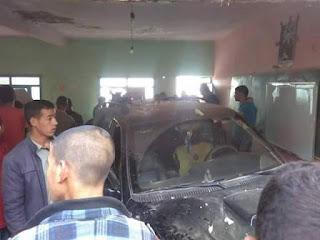 خطير: سيارة تهوي وسط قسم مليء بالتلاميذ