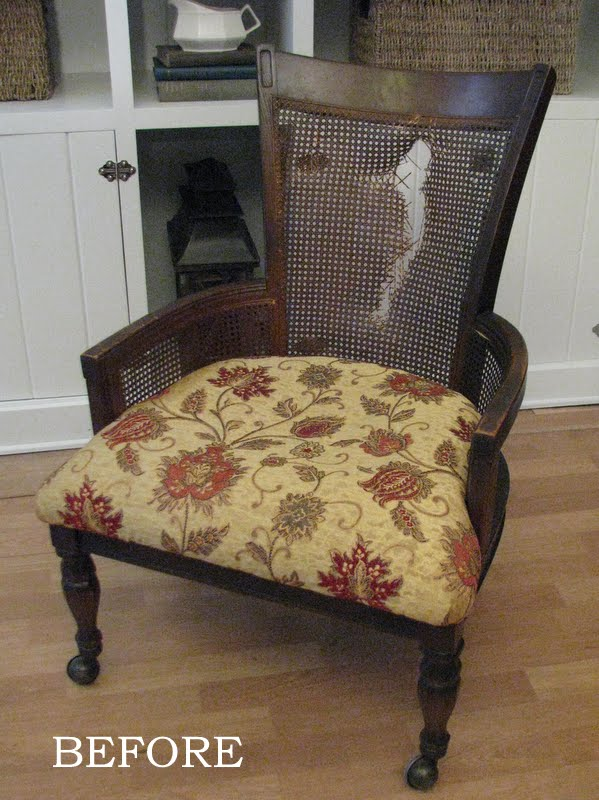 How To Replace Cane Back Chair With Fabric Target Task Blue Roof Cabin The French Treatment As You Can See Of Was Damaged I Decided Remove It And Double Cord Welting Also Added Piping