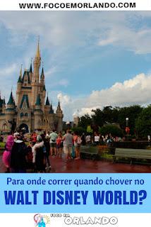 Atrações recomendadas para quando chover no Walt Disney World