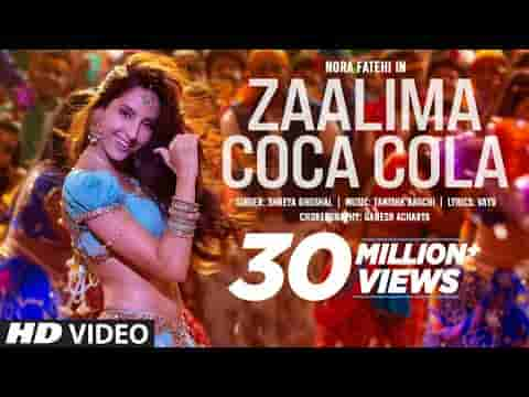 ज़ालिमा कोका कोला Zaalima coca cola lyrics in Hindi Bhuj Shreya Ghoshal Bollywood Song