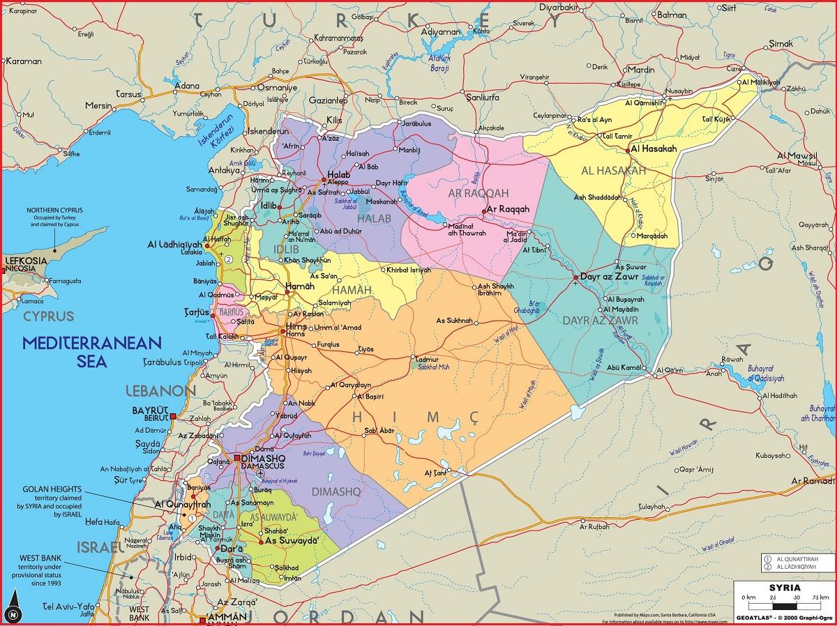 Peta Negara Suriah