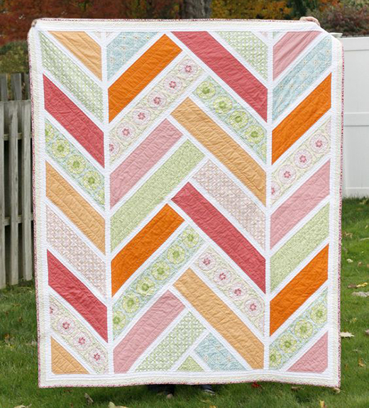 Broken Herringbone Quilt Free Tutorial