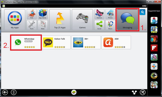 whatsapp windows bluestacks 2014