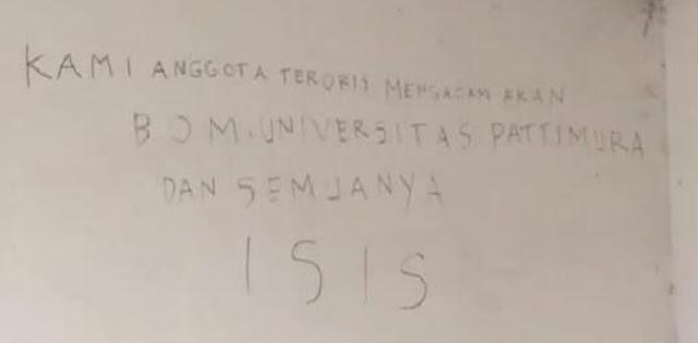 Universitas Pattimura Diancam Bom ISIS, Polisi Sudah Turun Tangan