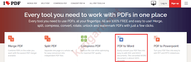 klik pdf to word