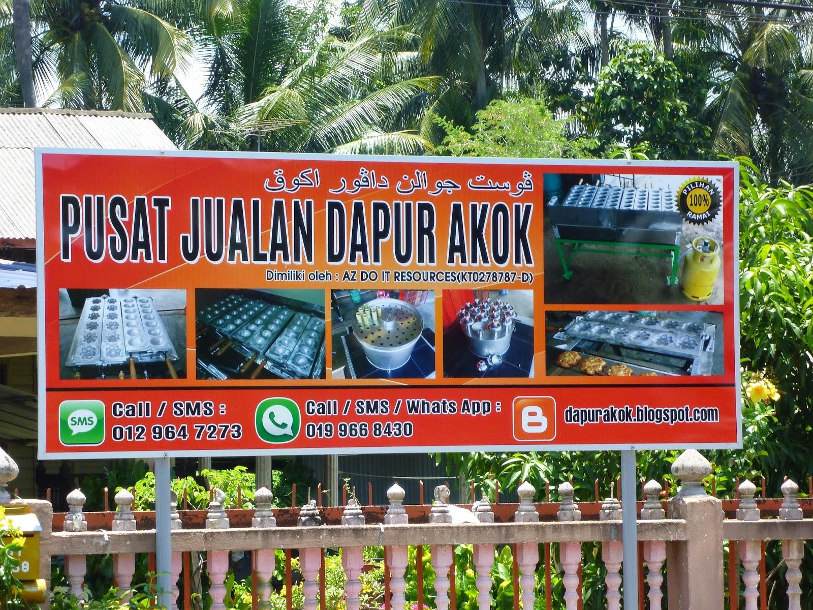 Signboard Baru Bengkel Dapur Akok