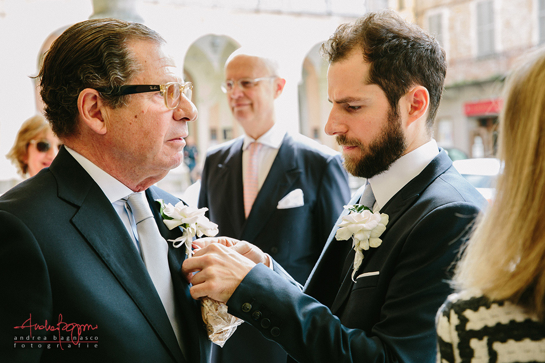 groom and his dad Italy wedding