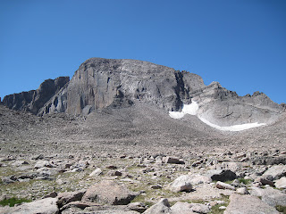 The north face of Longs Peak in Rocky Mountain National Park