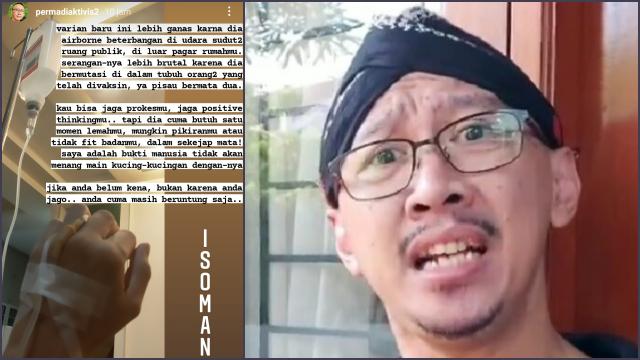 Abu Janda Kena Corona, Unggah Foto Diinfus: Varian Baru Lebih Ganas, Serangannya Brutal!