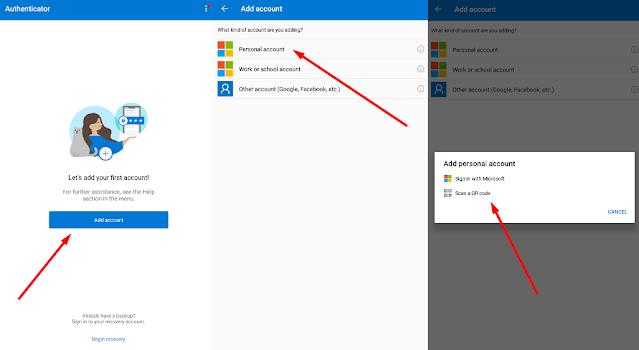 cara setting aplikasi ms authenticator