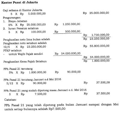 raden agus suparman : Contoh perhitungan PPh Pasal 21 pegawai tetap pindah kantor