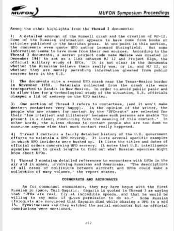 %name La investigación Rusa sobre los ovnis El proyecto Thread 3