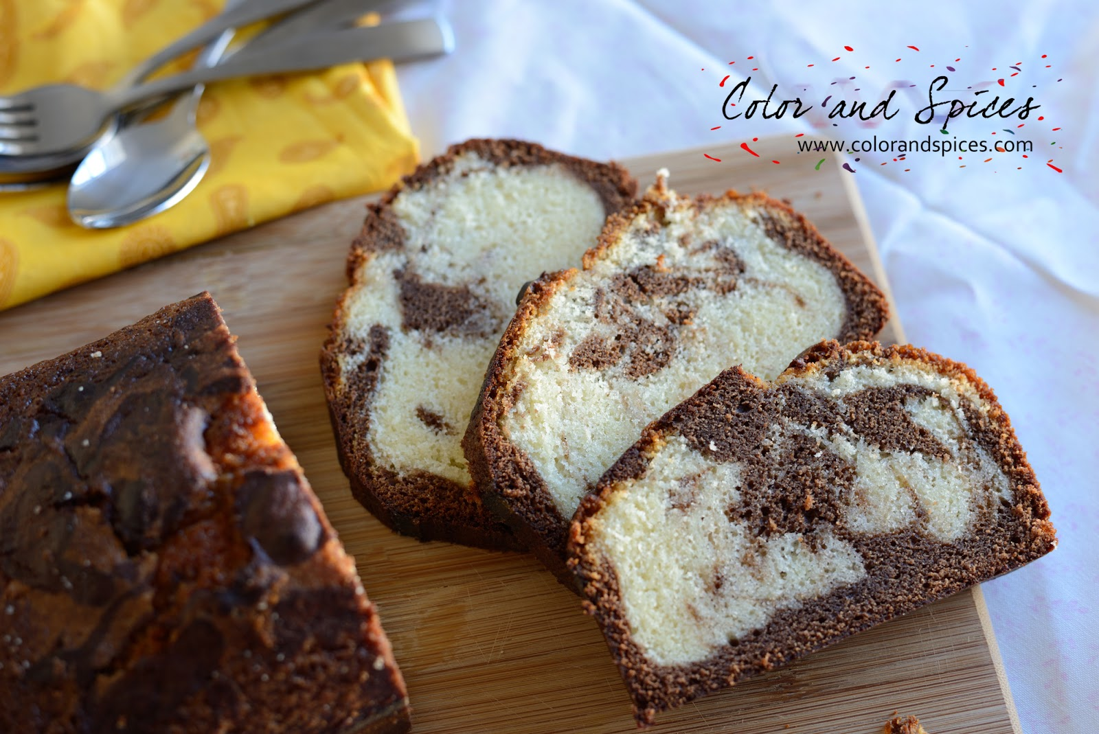 Color And Spices Marble Cake