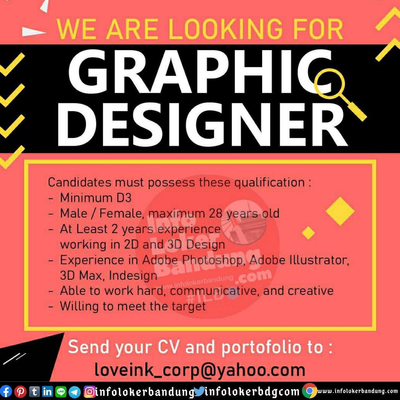 Lowongan Kerja Graphic Designer Lovink Corp Bandung Juli 2020