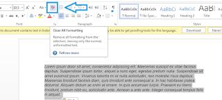 Cara Menghilangkan Background Warna Hasil Copy-Paste di Ms.Word