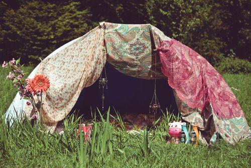 Backyard Camping Bohemian Style