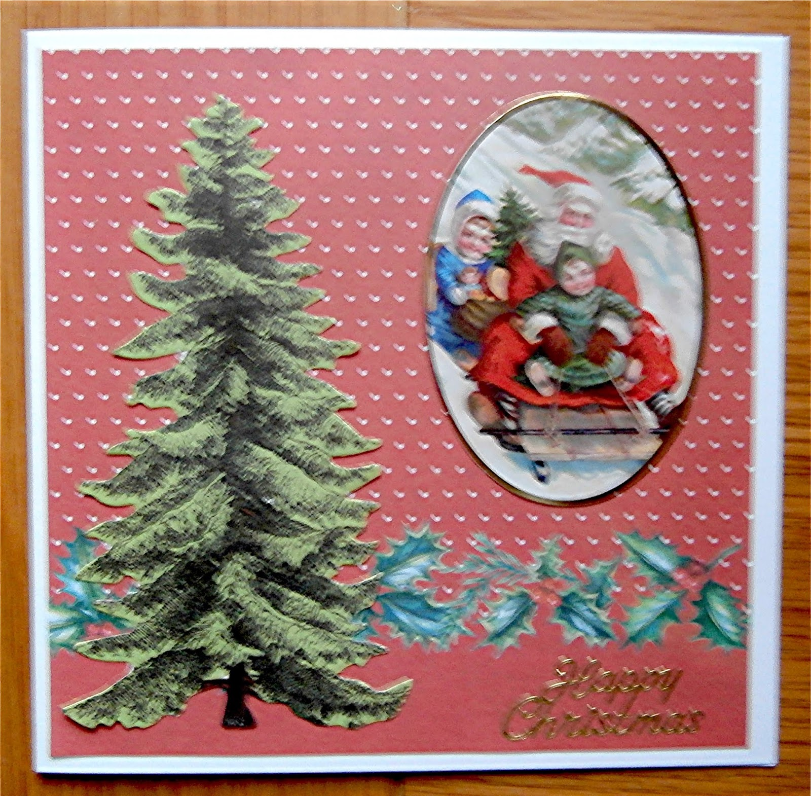 Another Quick Christmas Card  Not Sure Where The Paper