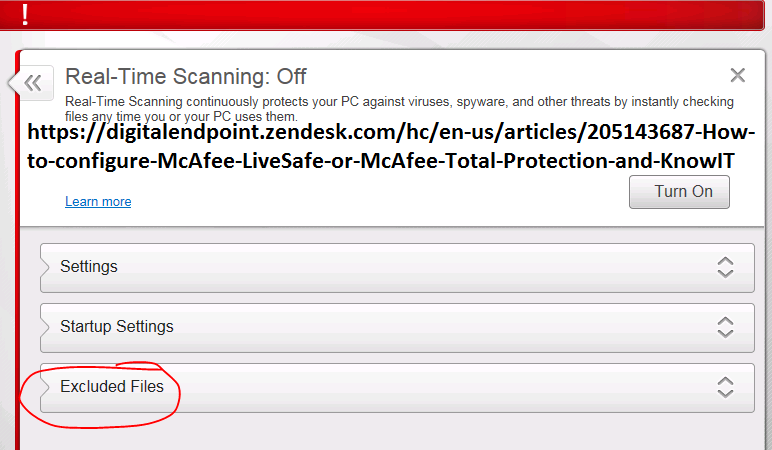 how to delete mcafee files