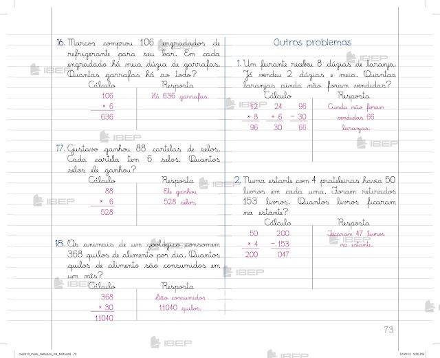Caderno Do Futuro 4 Ano Matematica Professor Aprender E Brincar