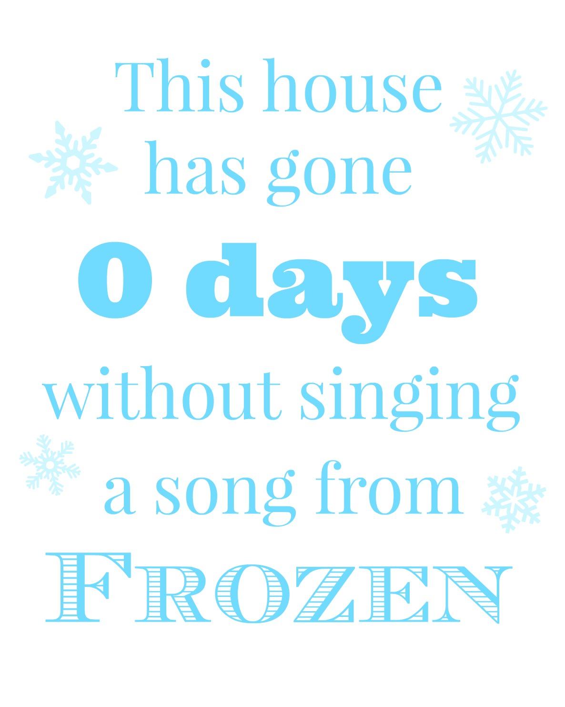 frozen movie printable