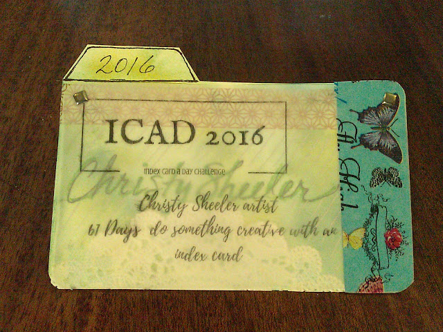 ICAD 2016 Christy Sheeler Artist, Index Card A Day Challenge