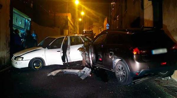 Accidente tráfico múltiple carretera Almatriche, Las Palmas de Gran Canaria