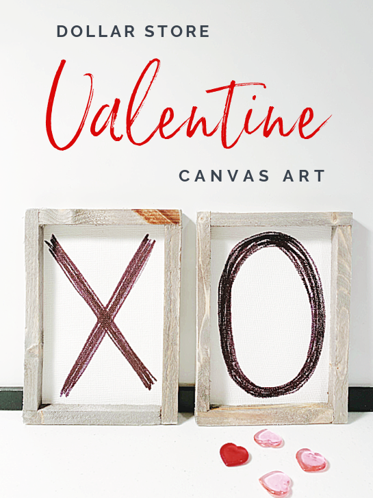 x and o framed art with overlay
