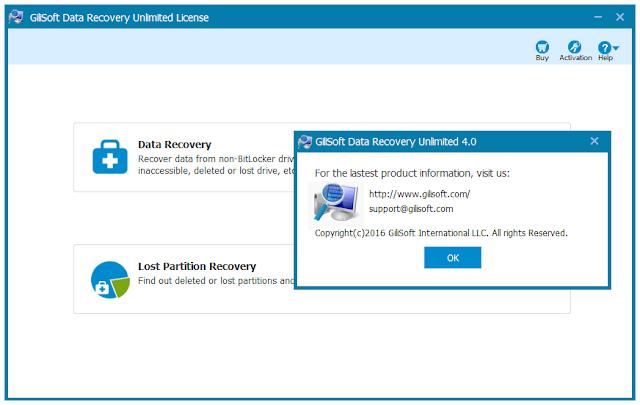 Screenshot Gilisoft Data Recovery 4.0 Full Version