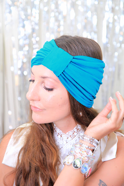 Turban Headband in Teal by Mademoiselle Mermaid