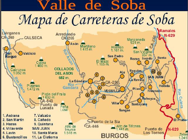 Resultado de imagen de valle de soba mapa