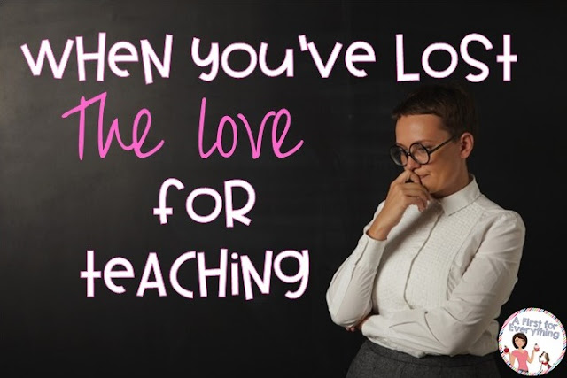 What to do when you lose your love of teaching. An honest blog post for public school teachers struggling with the teaching elementary school and special education programs. {K, 1st, 2nd, 3rd, 4th, 5th grade, homeschool}